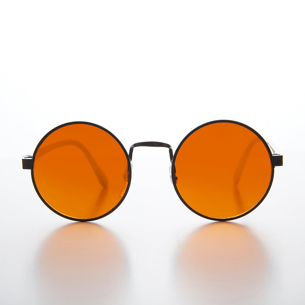 John Lennon Round Amber Blue Light Blocking Vintage Sunglass