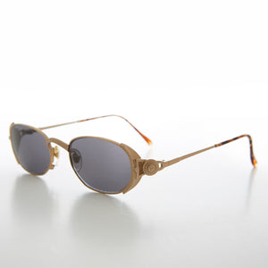 Oval Luxury Metal Sophisticated Vintage 90s Sunglass