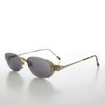 Load image into Gallery viewer, Oval Luxury Metal Sophisticated Vintage 90s Sunglass