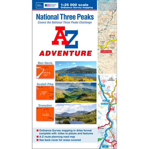 A-Z Adventure Atlas National Three Peaks-The Trails Shop