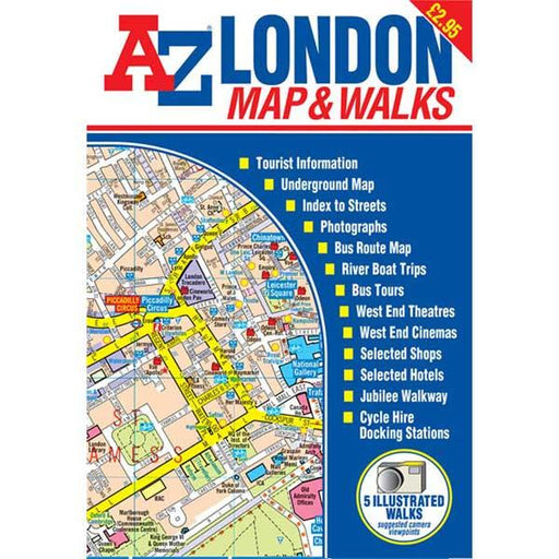 A-Z London Map & Walks-The Trails Shop