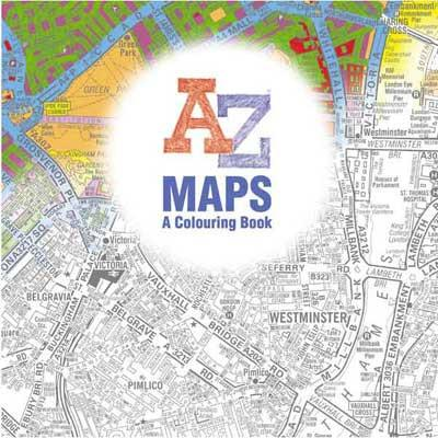 A-Z Maps - A Colouring Book-The Trails Shop