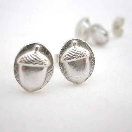 Acorn Earrings-silver acorns-The Trails Shop