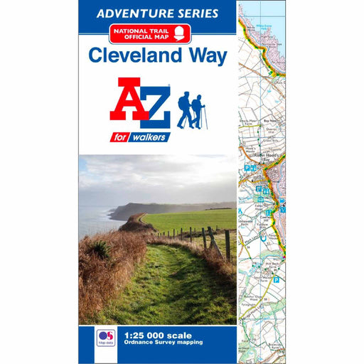 Cleveland Way A-Z Adventure Atlas-The Trails Shop