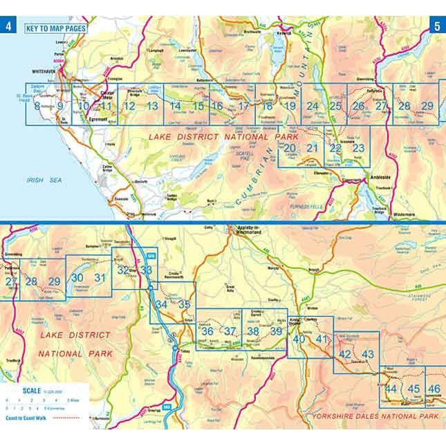 Coast to Coast Walk A-Z Adventure Atlas-The Trails Shop