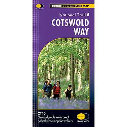 Cotswold Way Harvey map-The Trails Shop