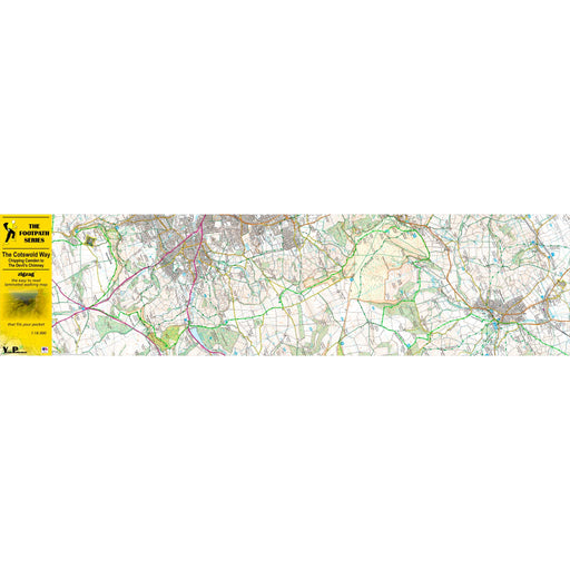 Cotswold Way Zigzag map - Chipping Campden to The Devil's Chimney-The Trails Shop