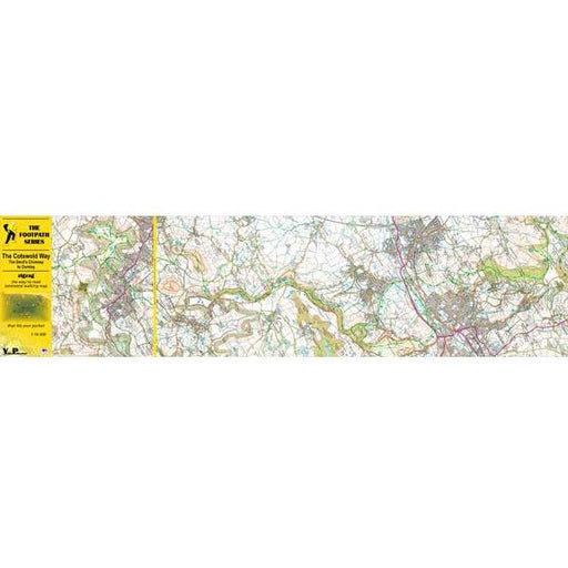 Cotswold Way Zigzag map - Dursley to Bath-The Trails Shop