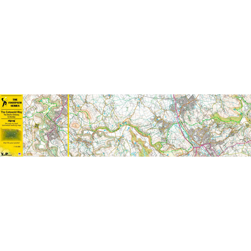 Cotswold Way Zigzag map - The Devil's Chimney to Dursley-The Trails Shop