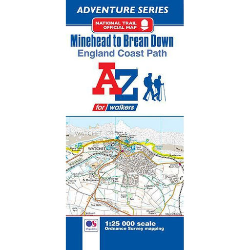 England Coast Path Minehead to Brean A-Z Adventure Map-The Trails Shop