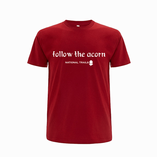 'Follow the acorn' T-Shirt-Dark Red-X-small-The Trails Shop