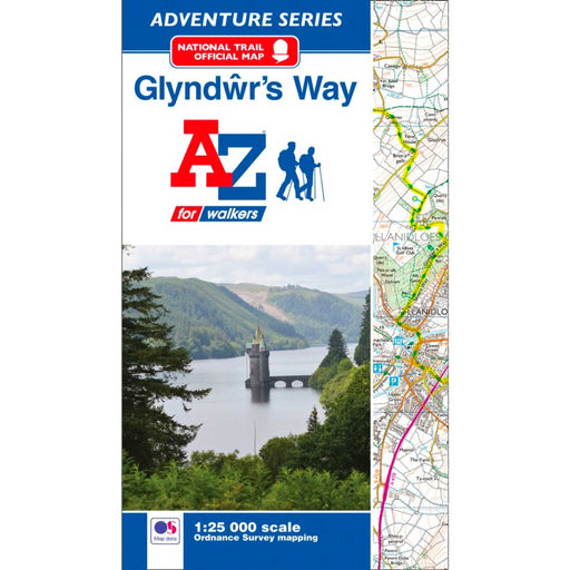 Glyndwr's Way A-Z Adventure Atlas-The Trails Shop