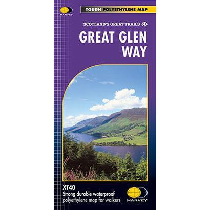 Great Glen Way Harvey map-The Trails Shop