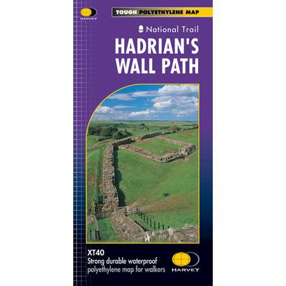 Hadrian's Wall Path Harvey map-The Trails Shop