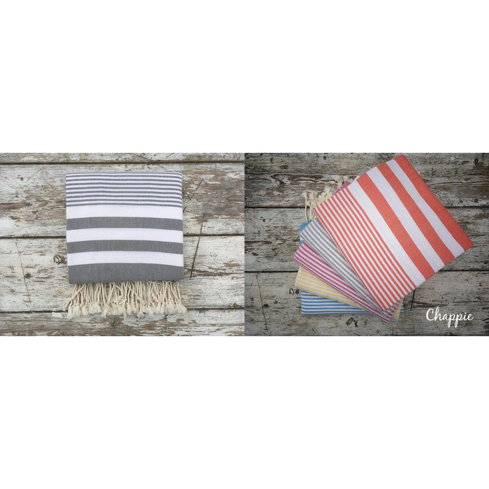 Hammam Towels-Chappie - Grey-The Trails Shop
