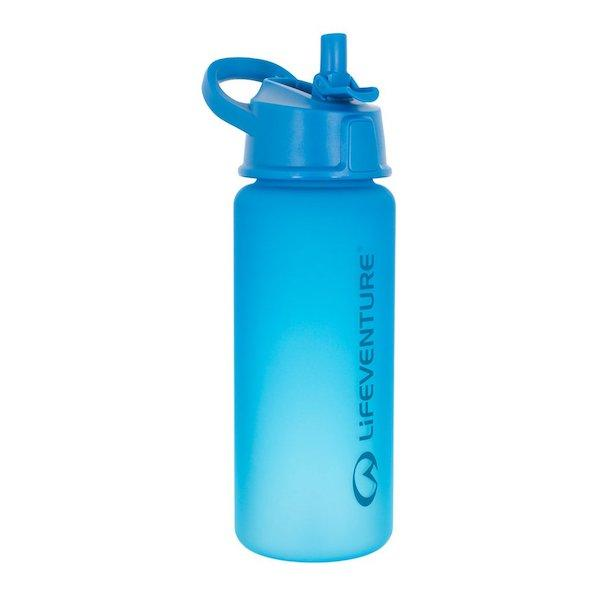 Lifeventure Flip-Top Water Bottle-Blue-The Trails Shop