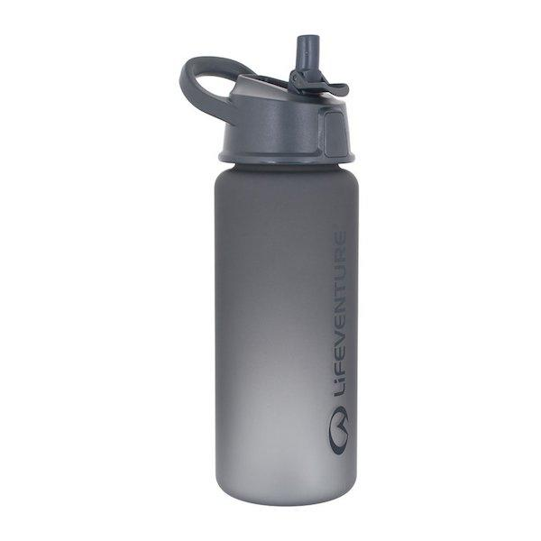Lifeventure Flip-Top Water Bottle-Grey-The Trails Shop