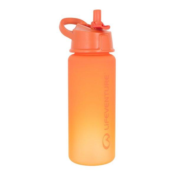 Lifeventure Flip-Top Water Bottle-Orange-The Trails Shop