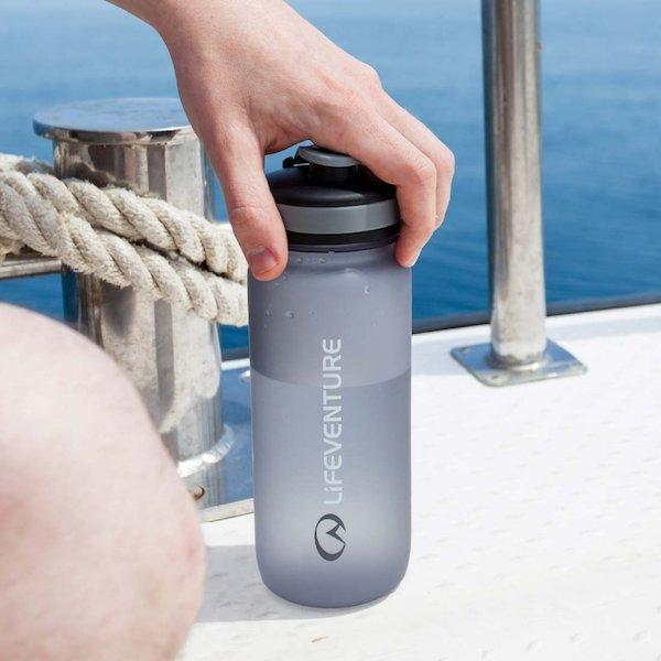 Lifeventure Tritan Water Bottle-Graphite-The Trails Shop