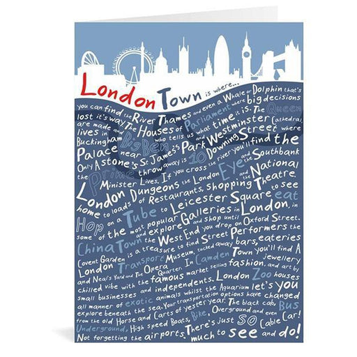 London Town Greeting Card-The Trails Shop