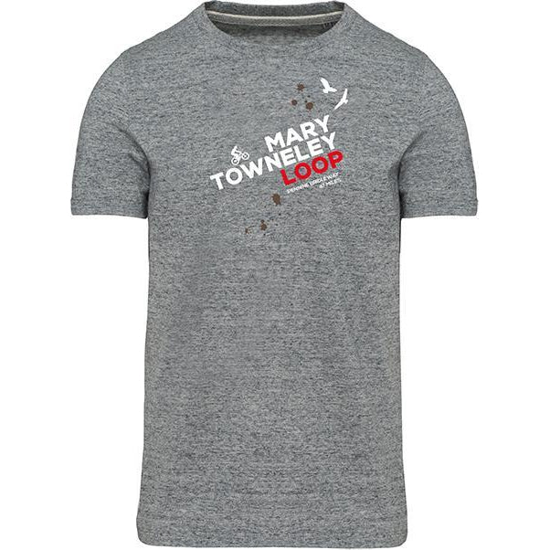Mary Towneley Loop Mountain Biking T-Shirt-Men's Small-Grey Heather-The Trails Shop