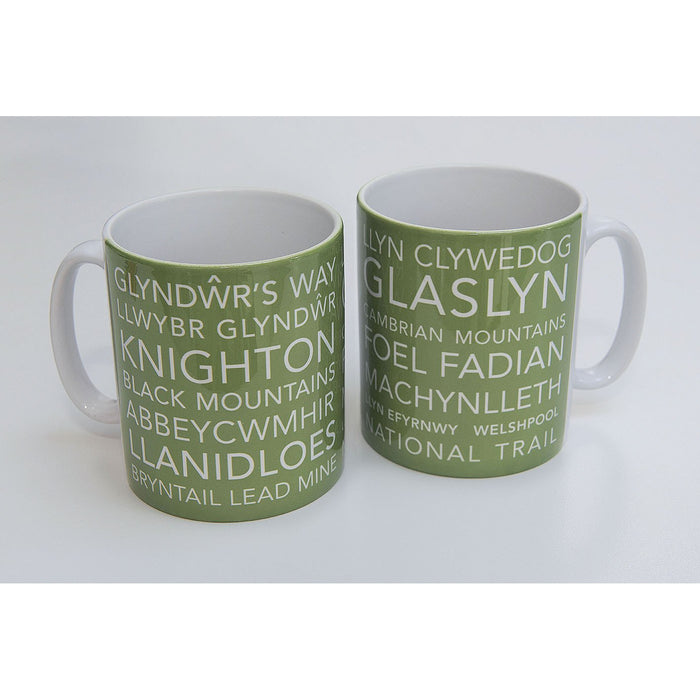 National Trail Mug-Glyndwr's Way-The Trails Shop