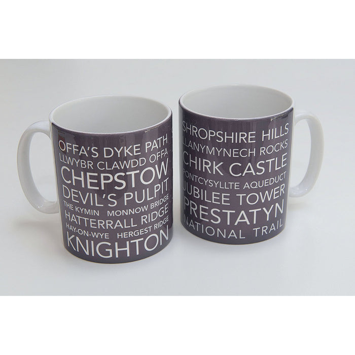 National Trail Mug-Offa's Dyke Path-The Trails Shop