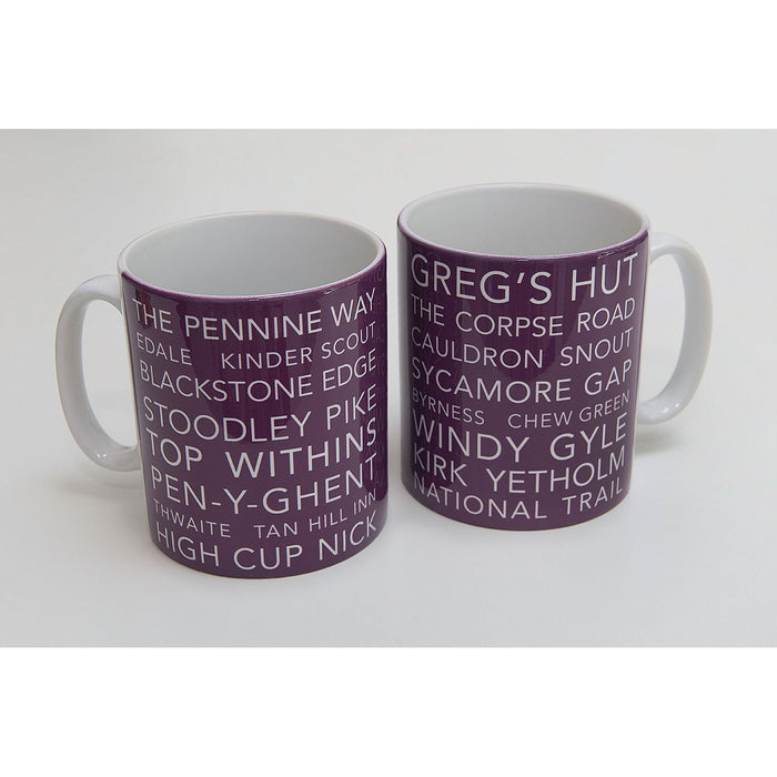 National Trail Mug-Pennine Way-The Trails Shop