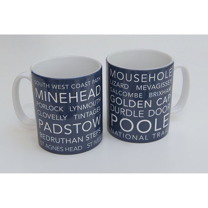 National Trail Mug-South West Coast Path-The Trails Shop