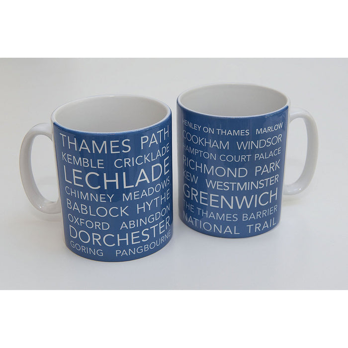 National Trail Mug-Thames Path-The Trails Shop