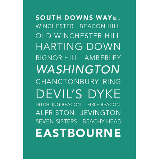 National Trails Greeting Card-South Downs Way-The Trails Shop