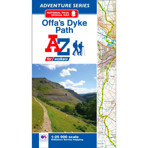 Offa's Dyke Path A-Z Adventure Atlas-The Trails Shop
