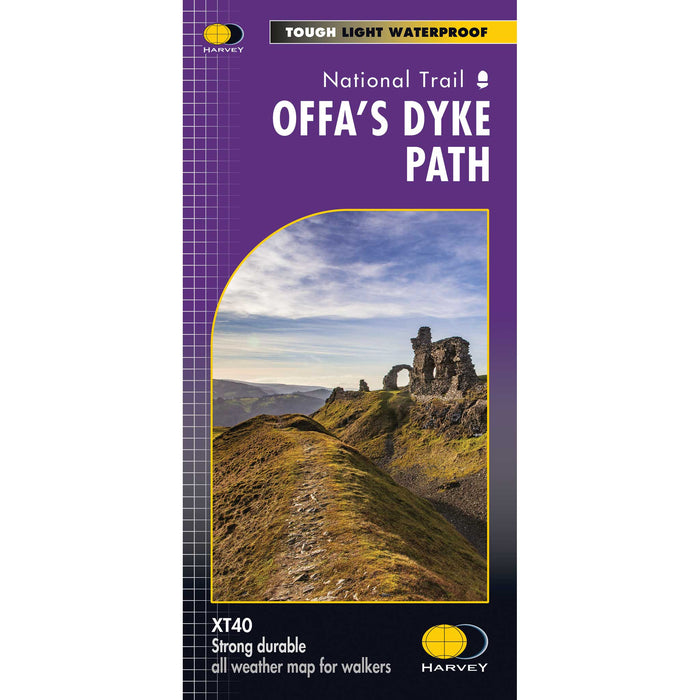 Offa's Dyke Path - Harvey map-Offa's Dyke Path (entire route on one map)-The Trails Shop