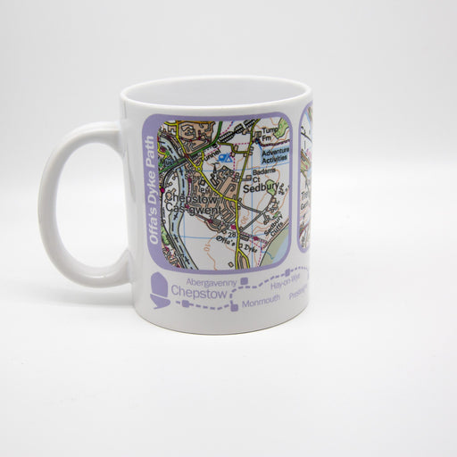 Offa's Dyke Path Map Mug-The Trails Shop