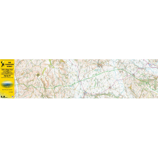 Offa's Dyke Path Zigzag map - Newcastle-on-Clun to Oswestry Old Racecourse-The Trails Shop
