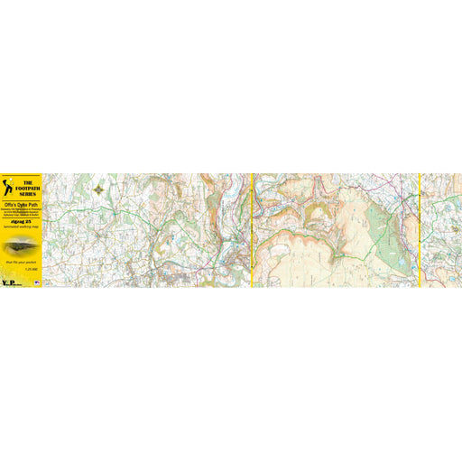 Offa's Dyke Path Zigzag map - Oswestry Old Racecourse to Prestatyn-The Trails Shop