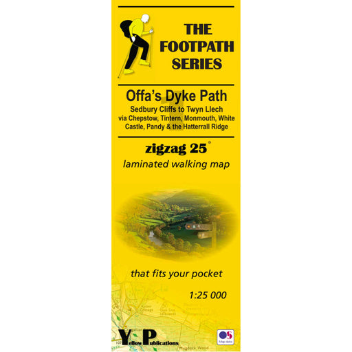 Offa's Dyke Path Zigzag map - Sedbury Cliffs to Twyn Llech-The Trails Shop