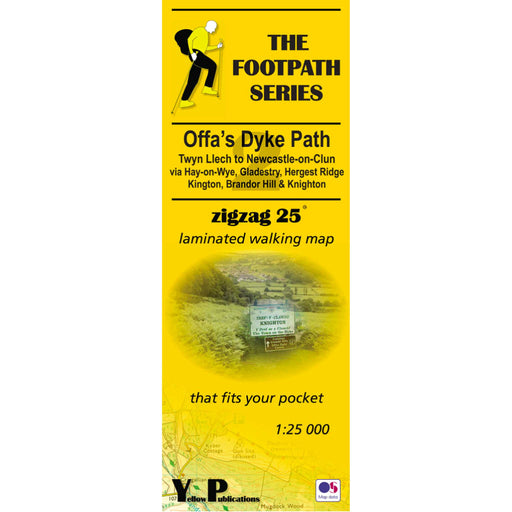 Offa's Dyke Path Zigzag map - Twyn Llech to Newcastle-on-Clun-The Trails Shop