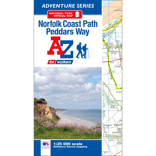 Peddars Way & Norfolk Coast Path A-Z Adventure Atlas-The Trails Shop