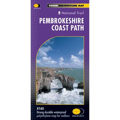Pembrokeshire Coast Path Harvey map-The Trails Shop