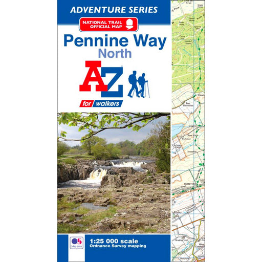 Pennine Way (North) A-Z Adventure Atlas-The Trails Shop