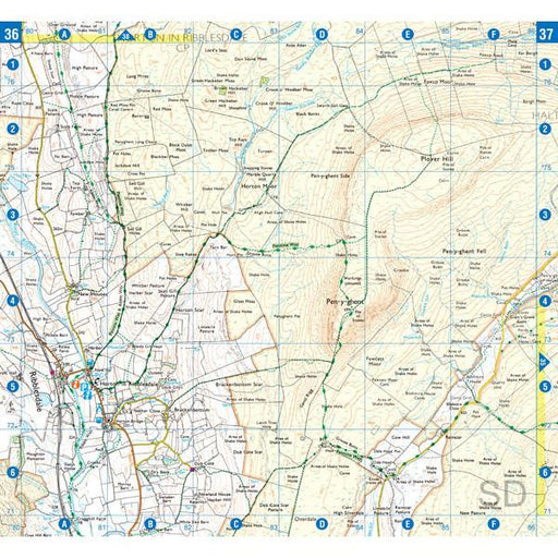 Pennine Way (South) A-Z Adventure Atlas-The Trails Shop