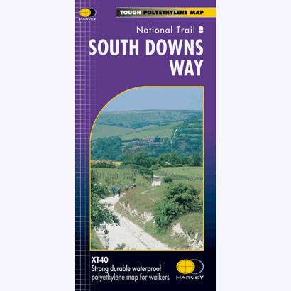 South Downs Way Harvey map-The Trails Shop