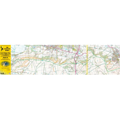 South Downs Way Zigzag map - Amberley to Ditchling Beacon-The Trails Shop