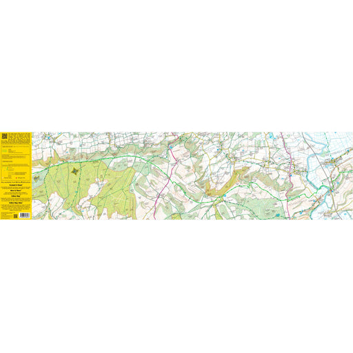 South Downs Way Zigzag map - Buriton to Amberley-The Trails Shop