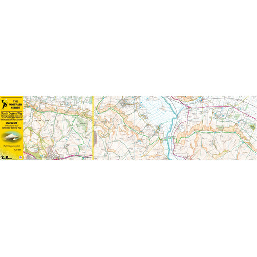 South Downs Way Zigzag map - Ditchling Beacon to Eastbourne-The Trails Shop