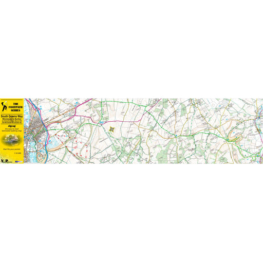 South Downs Way Zigzag map - Winchester to Buriton-The Trails Shop