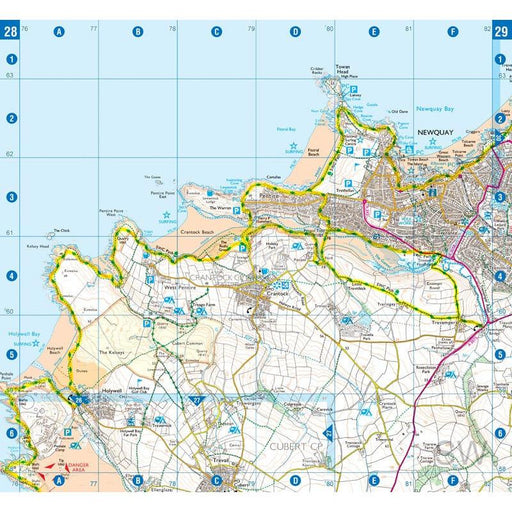 South West Coast Path 2 North Cornwall A-Z Adventure Atlas-The Trails Shop