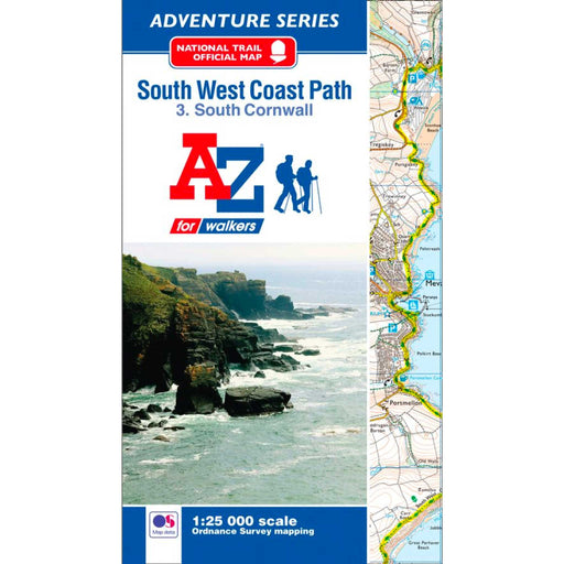 South West Coast Path 3 South Cornwall A-Z Adventure Atlas-The Trails Shop