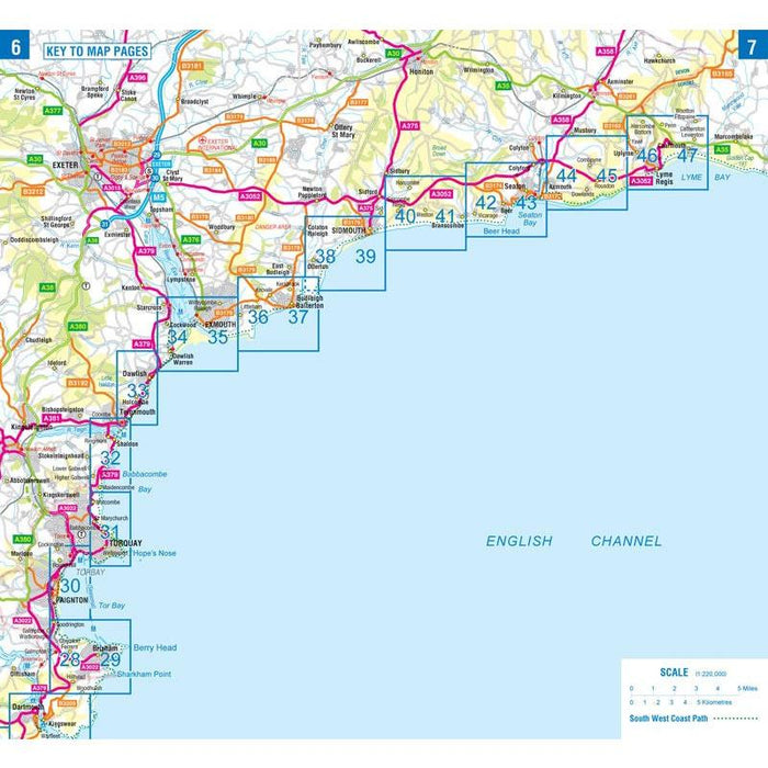 South West Coast Path 4 South Devon A-Z Adventure Atlas-The Trails Shop